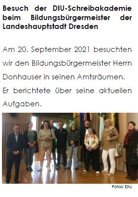 Lese-Pause, koalpha, DIU, Schreibakademie, Artikel, Bildungsbürgermeister, Dresden, Besuch
