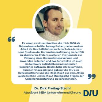 Testimonial Dirk Freitag-Stechl Unternehmensführung
