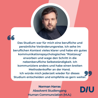 Absolventenstimme Studium Kommunikationspsychologie Human Communication DIU Dresden