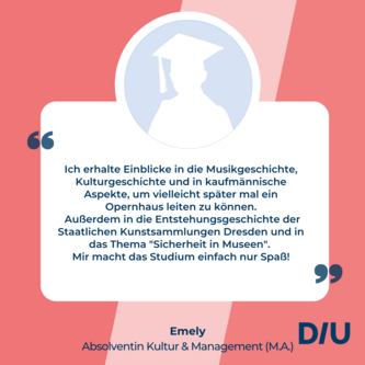 Studium Kultur und Management Dresden nebenberuflich studieren